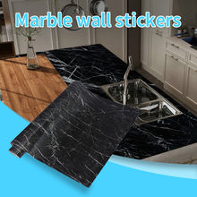 Self adhesive Marble Vinyl Wallpaper Roll Furniture Decorative Film Waterproof Wall Stickers for Kitchen Backsplash Home Decor#1(China)