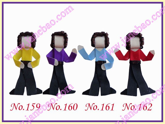100 шт символ волосы Луки(люди) скульптура hari clippie Стиль Бутик волос лук девушка Жук Луки
