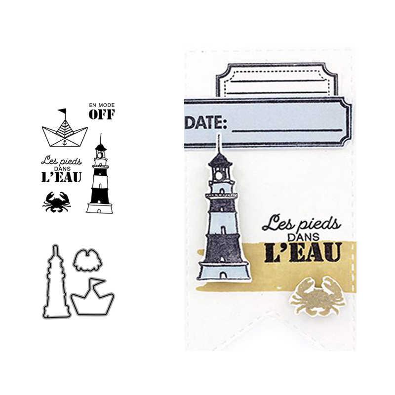 Metalen Stansmessen En Postzegels Vuurtoren Zeil Voor Scrapbooking Craft Stencil Papier Mes Schimmel Kaart Maken Album Vel 2020 Sterven cut