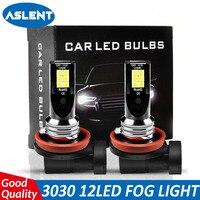 Aslent h8 h11 luz de nevoeiro mini h7 led carro condução correndo lâmpada hb3 9005 hb4 9006 3000k 6000k 8000k luces led para auto 12v