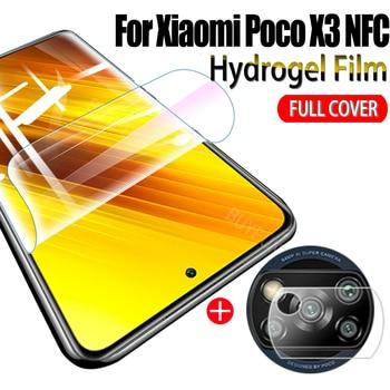 1-2pcs Soft hydrogel film for xiaomi little bit poco x3 nfc  screen protectors on xiaomi poco x3 nfc camera lens film NotGlass