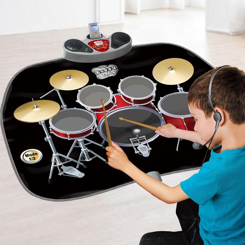 Video Game  Children's Early Education Puzzle Shelf Drum Music Blanket Jazz  Boys Toys Birthday Gift