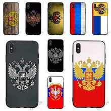 Pattern Russian Federation Flag Phone Cover for iPhone X Case 6 6S XR Xs Max 8 Plus 7 5S 5 SE Silicone(China)