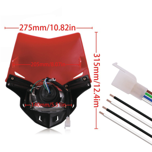 Image 5 - Universal S2 12V 35W Universal Motorcycle Headlight Head Lamp Led Lights and Windshield For Dirt Pit Bike ATV