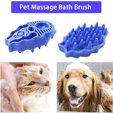 Pet Dog Cat Bath Brush Grooming Tool Comb Silicone SPA Massage Brush Shower Hair Removal Comb For Dogs Cats Pet Cleaning Tool pet grooming comb tool pet hair cleaning brush magic pet dog cat massage hair removal brush dog shedding comb