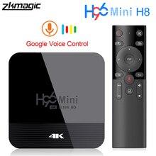 ZKMAGIC Android 9.0 Tv, pudełko H96Mini H8 Rockchip RK3328 1GB 8GB 16GB Android box 2.4/5.0G WiFi Google Play Tv box z androidem Tv, pudełko