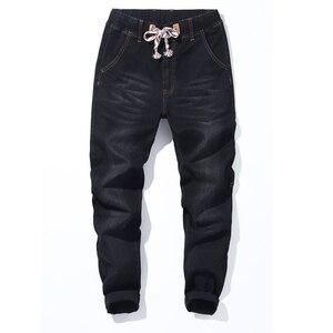 Image 3 - גברים ג ינס מכנסיים הרמון מכנסיים M 7XL גדול גודל Demin Loose נוח מכנסיים קלאסי היפ הופ פאנק סיבתי יומי בגדים