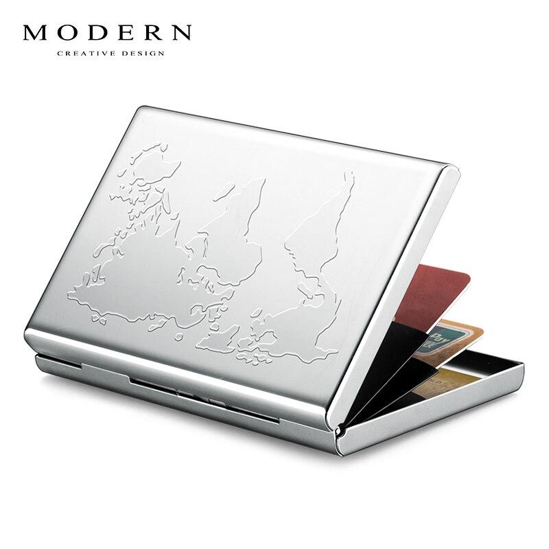 Modern - Brand Stainless Steel Card Holder Wallet Coin Purse Credit Card Organizer RFID Blocking