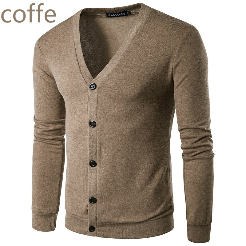 ZOGAA New Brand Sweater Men V-Neck Solid Slim Fit Knitting Mens Sweaters Cardigan Male 2019 Autumn Winter Fashion Casual Coats 2