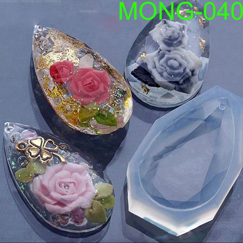 Faceted Teardrop Pendant Silicone Resin Mold Jewelry Making DIY Craft Accessories