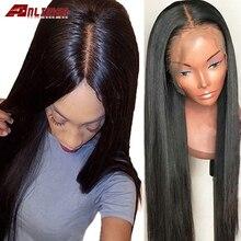 13x4/13x6 Синтетические волосы на кружеве парик прямые перуанские волосы, 8-26 дюймов Синтетические волосы на кружеве человеческих волос парики ...