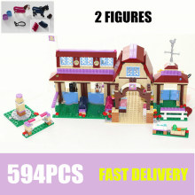 NEW Friends Riding Club House Fit Friends Figures Model Kit Building Blocks Kids Bricks Girls Toys Birthday Diy Kid Gift 10562 new playground series fits legoings creators city streetview set house figures model building kit bricks blocks diy gift kid toy