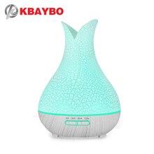 KBAYBO 400ml luftbefeuchter aromatherapie aroma öl diffusor knistern nebel maker fogger 7 bunte LED nacht licht für home büro