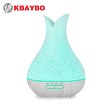 KBAYBO humidificador de aire para hogar y oficina, difusor de aroma de aceite para aromaterapia, nebulizador, 7 luces LED de colores, 400ml