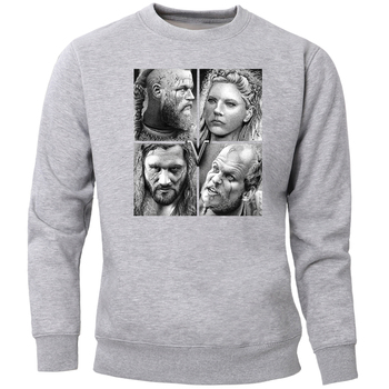 Odin Vikings Sweatshirts Men Scandinavian Valhalla Crewneck Hoodies Ragnar Lothbrok Lagertha Athelstan Viking Jumper Sportswear 1