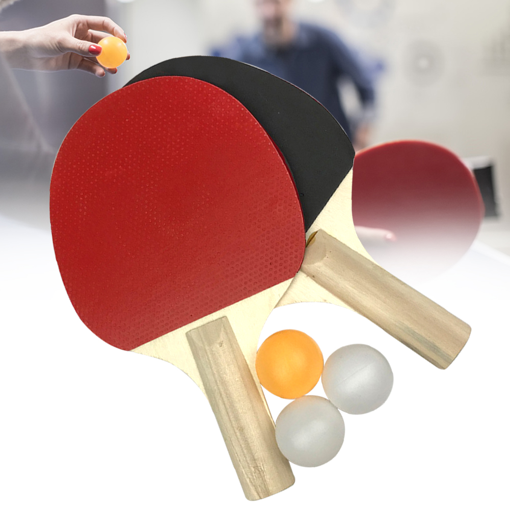 Outdoor Lightweight Durable Home Sports Equipment Table Tennis Set 2 Rackets Playground Students Beginners 3 Balls Training