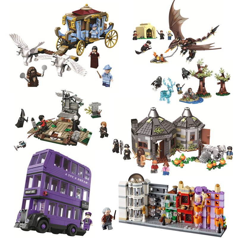 Harri Magic Worlds Hogwartinglys Clock Tower Great Hall Legoinglys Harri 75945 75946 75957 75958 75965 Building Block Bricks Toy