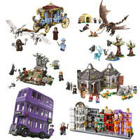 Harri Magic Worlds Hogwartinglys Clock Tower Great Hall Legoinglys Harri 75945 75946 75957 75958 75965 Building Block Bricks Toy