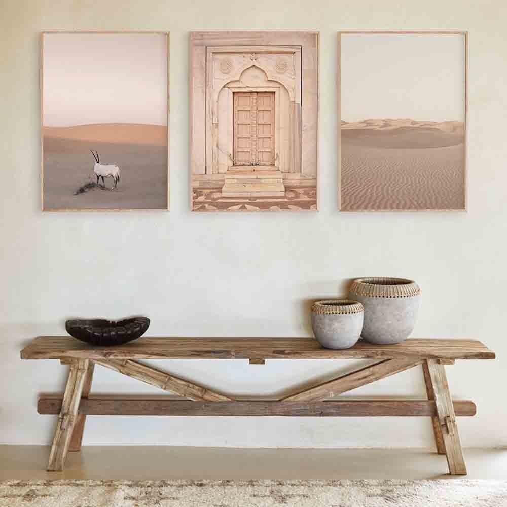 Бохо пейзаж стены Искусство пустыня путешествия печать Марракеш плакат козья холст печать Картина Настенная картина гостиная марокканский декор