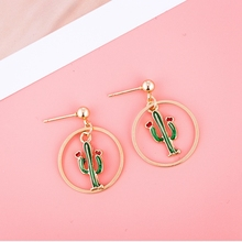 Korean Girl Cute Plant Fruit Animal Drop Earrings Pineapple Strawberry Ice cream Dangle For Women Jewelry Gift