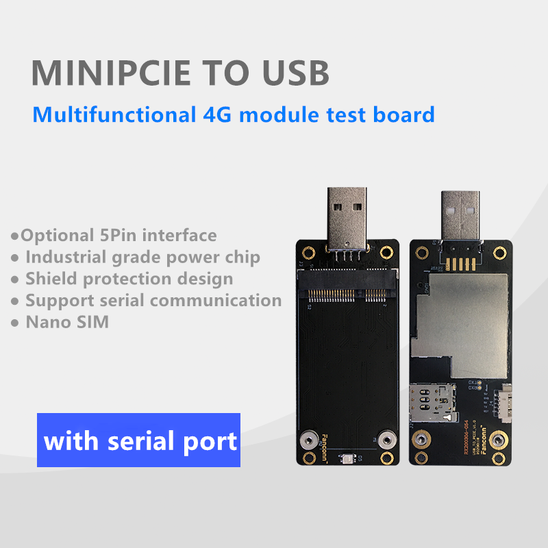 Mini PCIe To USB Test Board 4G Module Adapter Card With SIM Slot 5pin To MINI PCIE Industrial Grade LTE Dongle Development Board