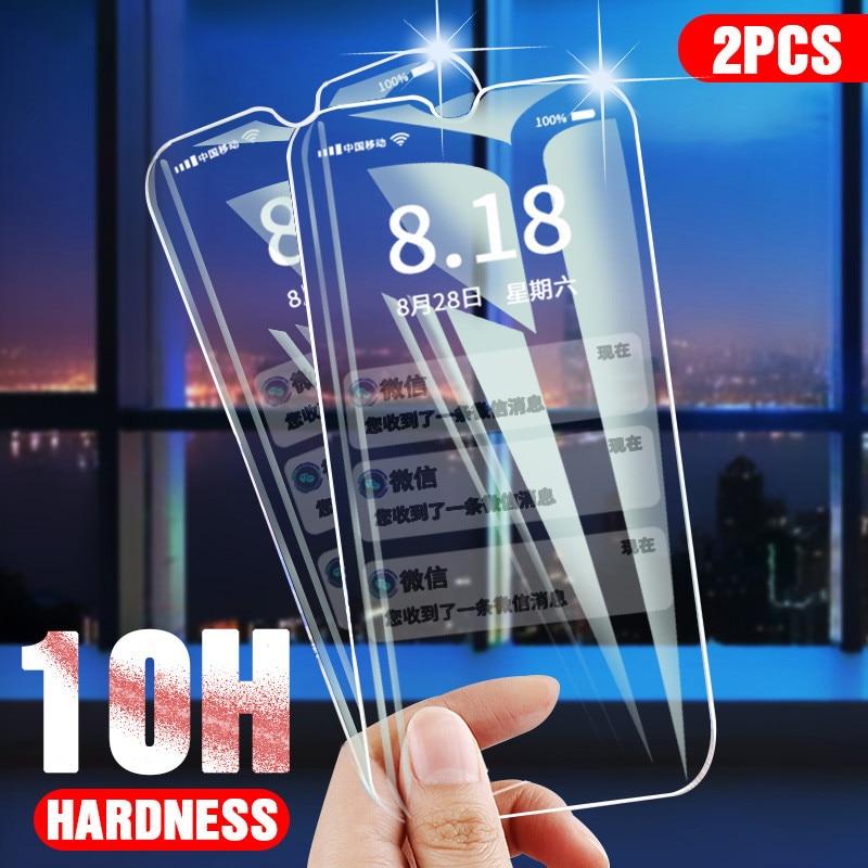 10H 2pcs Tempered Glass For Oppo A9 A5 2020 F11 Pro Screen Protector Protective Glass For Oppo Realme X C1 C2 3 Reno 2 Reno2