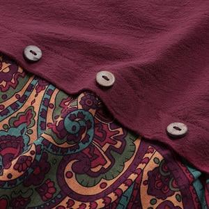 Vintage Baumwolle Solide Bluse Frauen Casual Patchwork Langarm Frauen Blusen Blusas Mujer O Neck Lose Plus Größe Weibliche Tunika