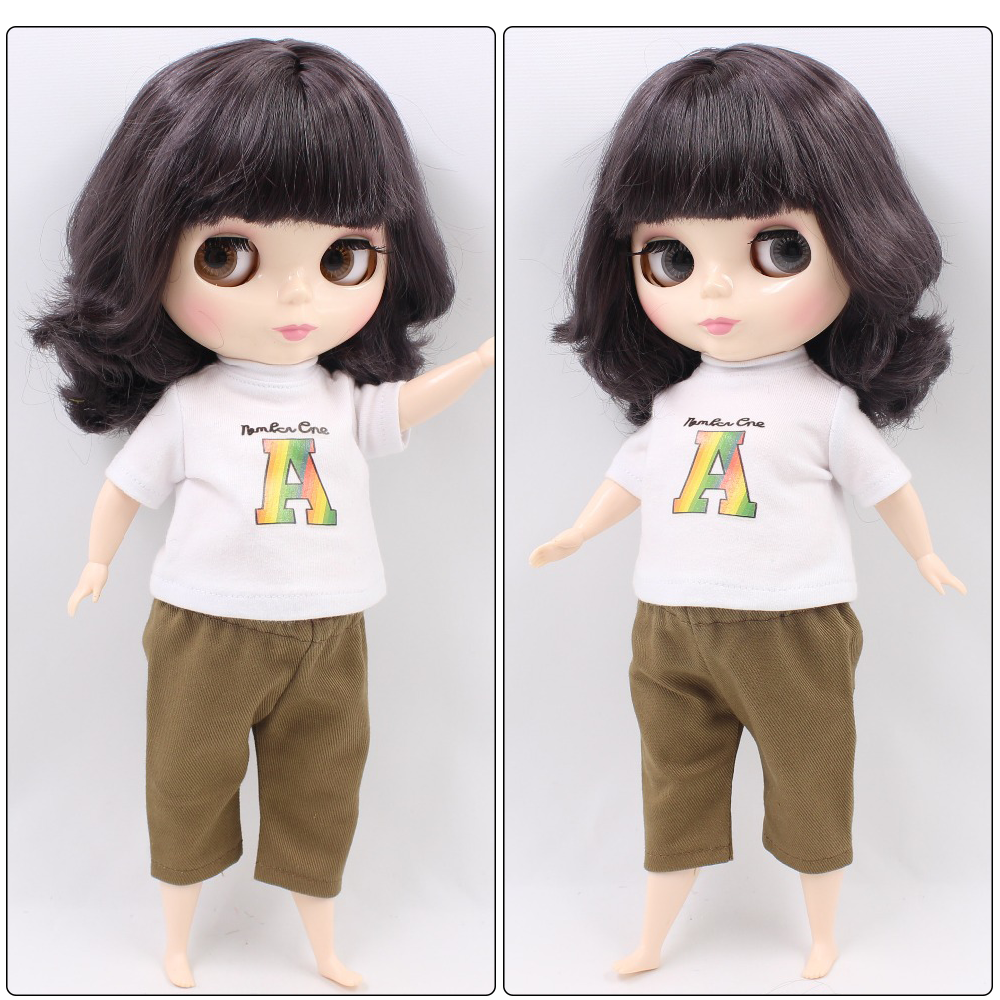 Plump Neo Blythe Doll Black Hair Fat Body 1