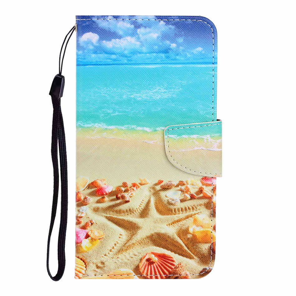Painted Case For Xiaomi Redmi 7A 8A Note 7 8 Note7 Note8 Pro Leather Soft Silicone Holder Wallet Card Pocket Stand Cover D20F