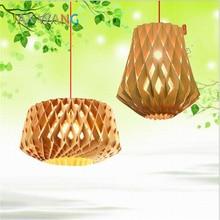 Nordic Bird's Nest Solid Wood Art Pendant Light for Cafe Restaurant Dining Room Bar Hotel Lighting Fixtures Pendant Lamp Lights