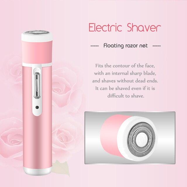 Kemei 4 In 1 Epilator Female Eyebrow Trimmer  for Face Hair Removal Epilator Depilador Bikini Depilatory Women Shaver 45D 2