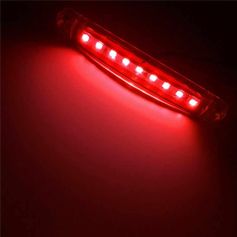 2PCS Luzes LED Para Reboque LEVOU Caminhão 24v 9 Lado Marcador Luzes LED SMD Auto Car Truck Bus vermelho
