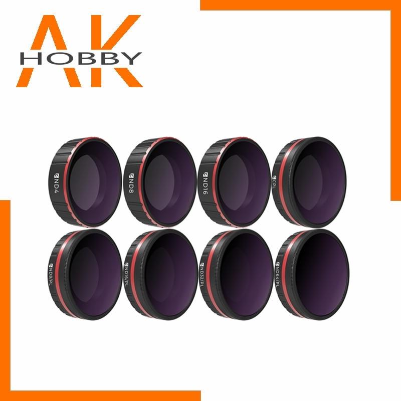Freewell ensemble de filtres de 8 paquets toute la journée ND4,ND8,ND16,CPL ,ND8/PL ,ND16/PL,ND32/PL,ND64/PL pour accessoires de caméra daction DJI Osmo