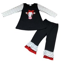 Winter clothes for children outfits bull top with pants children kids boutique clothing sets