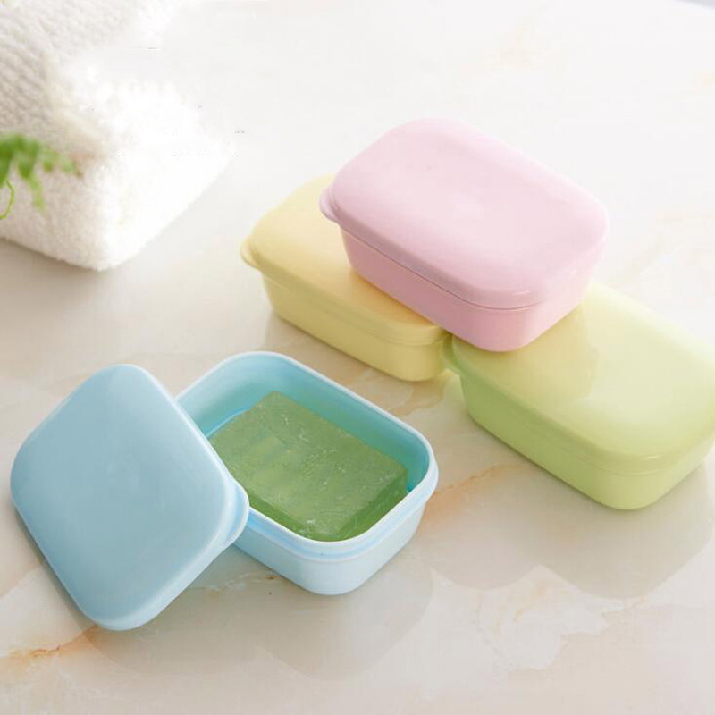 New Travell Soap Dish Box Case Holder Hygienic Easy To Carry Soap Box Oval Bathroom Dish Plate Case Zeepbakje Porte Savon Jabone