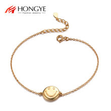HONGYE Hip-hop Punk Gold Color Chain Choker Necklaces For Women Cool Smiley Face Expression Collier Jewelry 2020 Daily Party(China)