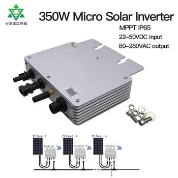 350W Micro Inversor Solar Grid tie inverter Ip65 Pure Sine Wave Inverter Regulator Input 22-50V Output 80-160V or 180-260V 1