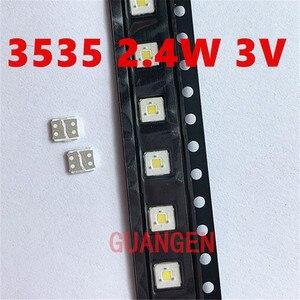 Image 4 - 200 sztuk lumenów podświetlenie LED Flip Chip LED 2.4W 3V 3535 fajne białe 153 lm dla SAMSUNG LED LCD podświetlenie aplikacji TV