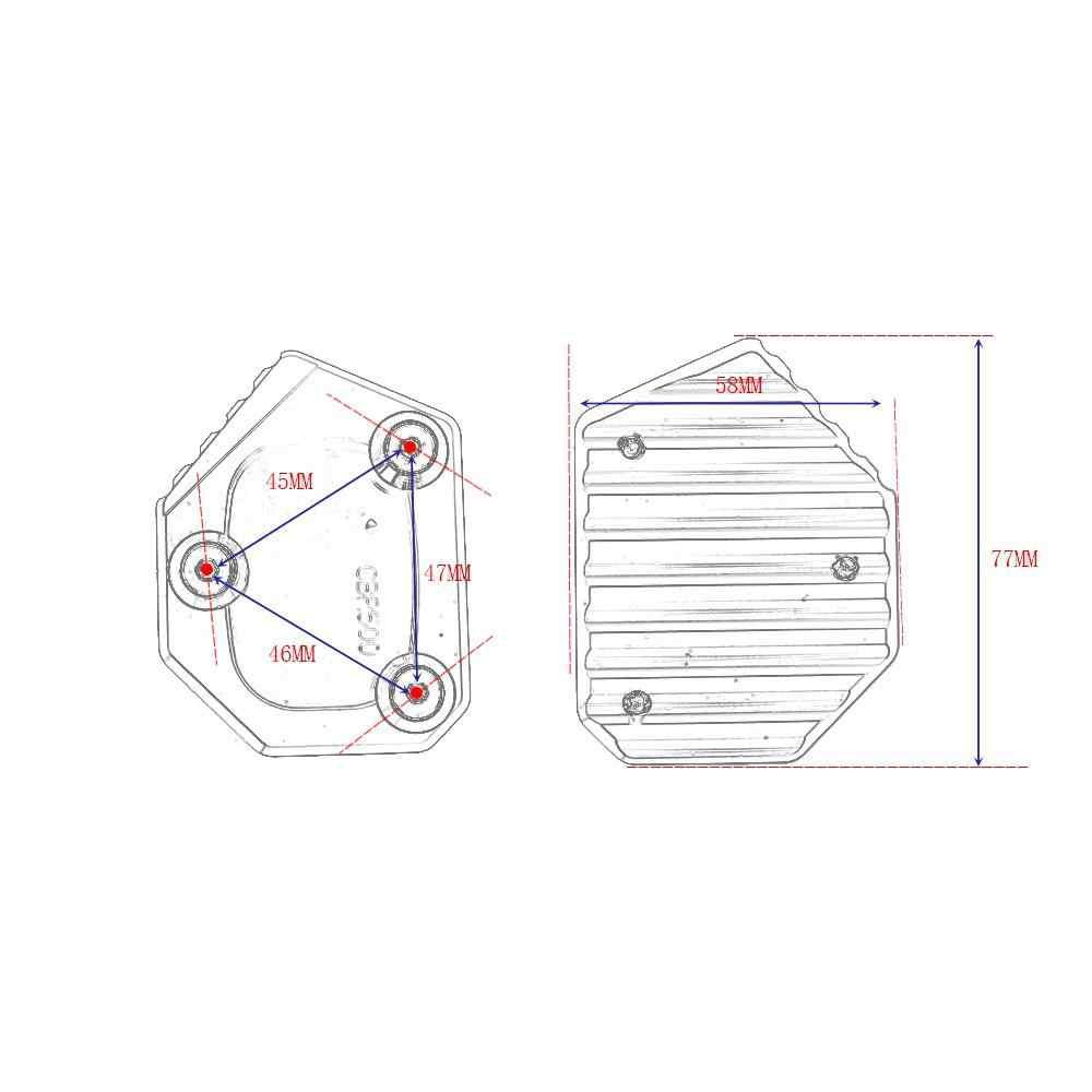 Professionele Aluminium Motorfiets Kickstand Zijstandaard Extension Pad Plaat Cover Motorbike Onderdelen Voor Honda CB400 NC700 CB250F