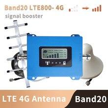 Banda 20 4g amplificador 800 mhz fdd europa amplificador de sinal do telefone celular amplificador 4g lte 800 mhz repetidor conjunto b20