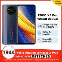 POCO X3 Pro – Smartphone, Version globale, 6 go 128 go/8 go 256 go, Snapdragon 860 FHD +, écran DotDisplay 120Hz, 5160mAh, NFC, caméra Quad, 33W