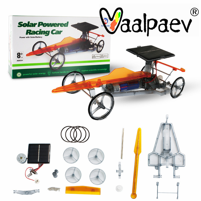 Solar Energy  Electronic Car Powered Steam Educational Assemble DIY Kit Blocks Science Physical Experiment Toys for Student Kids