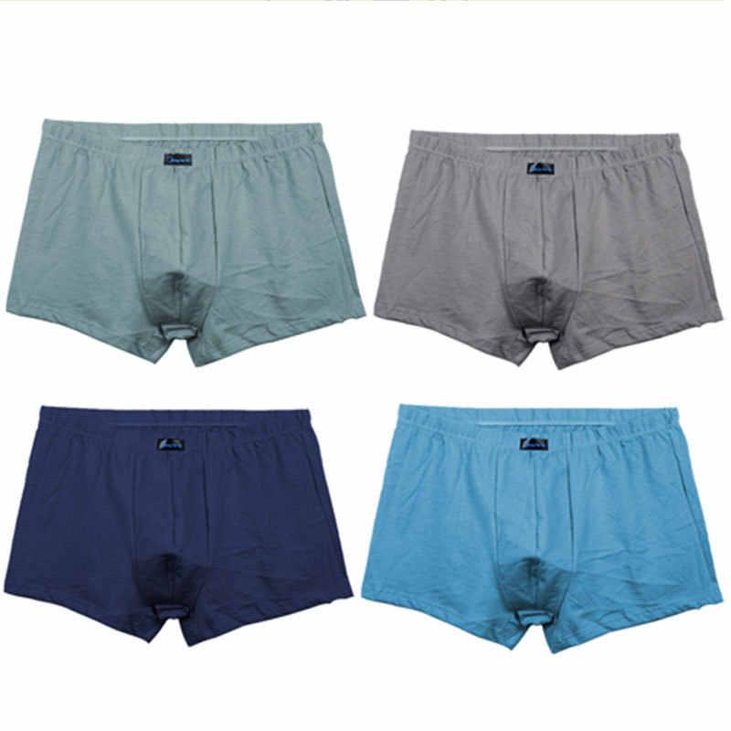 4 adet/grup baksır şort M XL artı boyutu erkek külot Vetement Cueca Homme marka Boxer pamuk erkekler nefes alan iç çamaşırı yumuşak # NK95