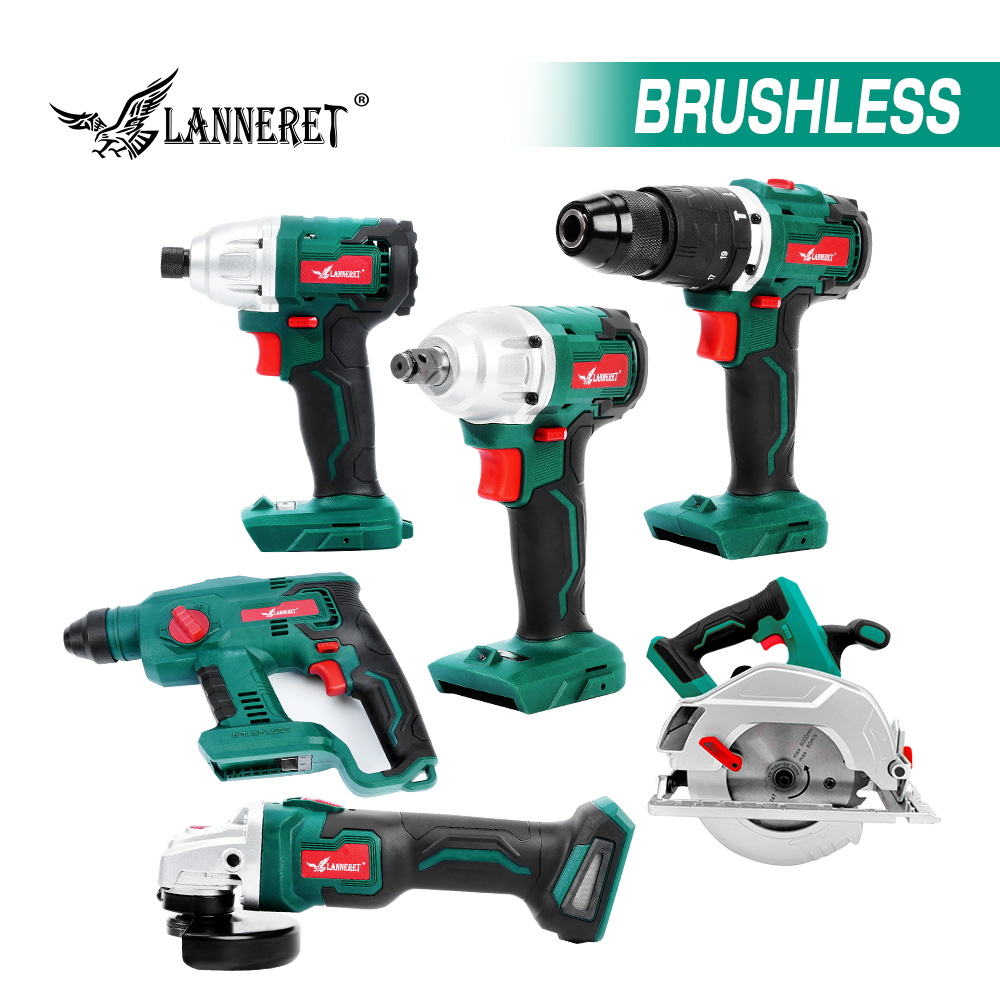 No Battery Brushless 20V Cordless Drill Driver Electric Angle Grinder Rotary Hammer Electric Impact Wrench Cordless Tools