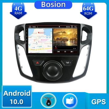 9'' Car Multimedia Video Player GPS Navigation 4G RAM Android 10.0 Autoradio ForFord For Focus 3 2012-2015 Head Unit with WIFI image