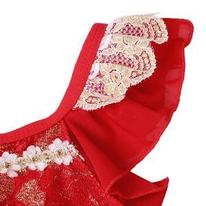 Image 3 - BAOHULU בנות בלט ריקוד טוטו שמלת מזרחי אלמנט בגד גוף ביצועים התעמלות בגד גוף אדום צבע עבור 3 ~ 7 שנים בלרינה