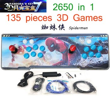 3D Arcade Game Console Pandora7 2323/2650 in 1 upgrade from 2177 in 1 LED Acrylic panel HDMI VGA Home entertainment for kids