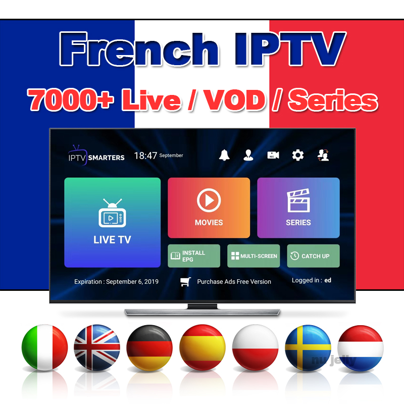 7000+ 4K HD Live VOD Series IPTV Subscription France Italy Netherlands Portugal Spain Germany Satellite Tv Box Iptv M3u Hot Xxx