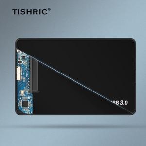 TISHRIC HDD чехол для жесткого диска с 2,5 корпус для жесткого диска Usb 3,0 2,0 Sata жесткий диск чехол Поддержка 8 ТБ футляр для внешнего жесткого диска чехол
