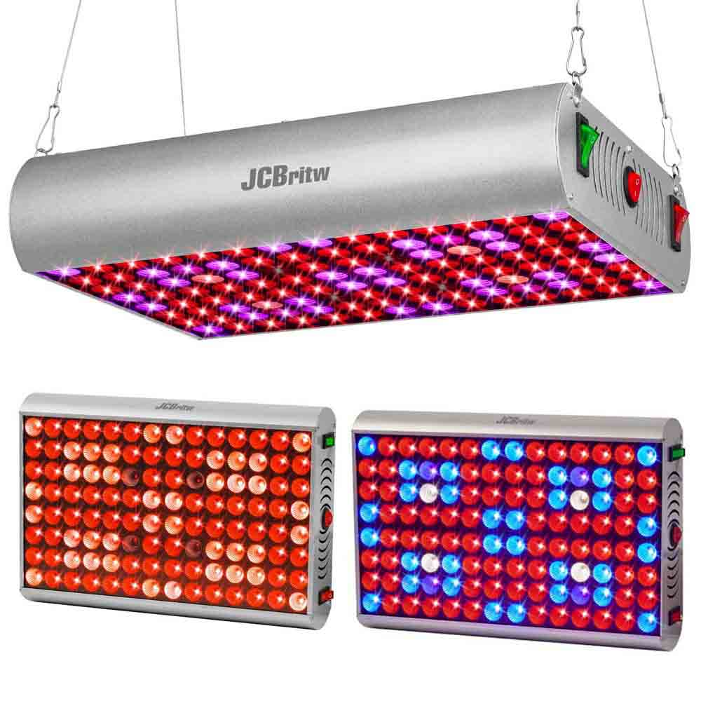 JCBritw 300W LED Grow Light Full Spectrum Veg Bloom Switch With Daisy Chain For Greenhouse Hydroponic Indoor Plants Veg Bloom